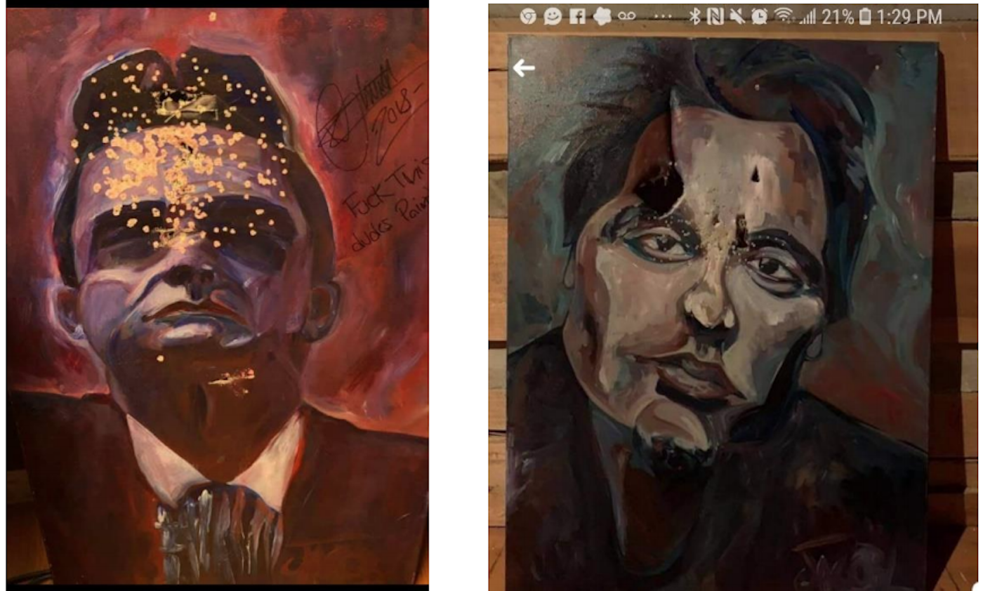 LeVeille's mutilated paintings